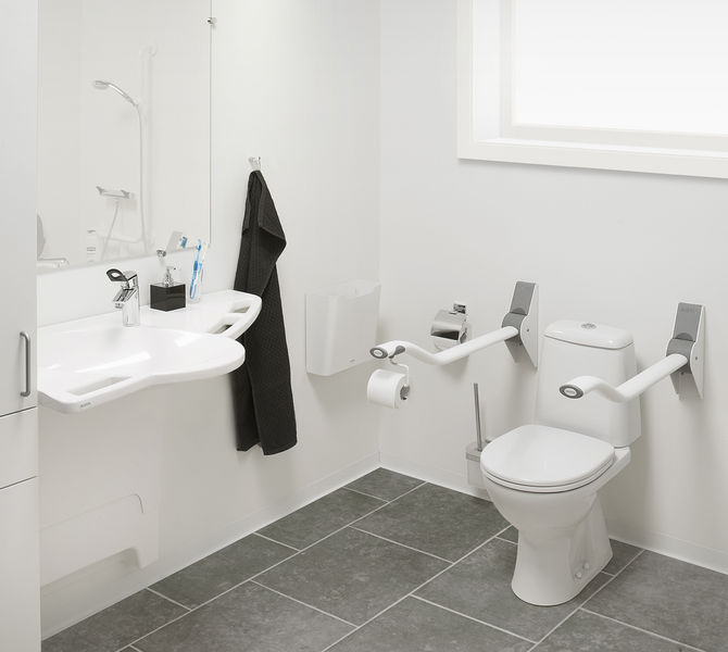 Toilet Support Arms (Folding) from Ropox - Toilet Support Rails ...