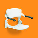 Linido Wall Mounted Shower Seat with Backrest & Arms