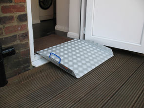 Doorline-Multi: Fitted to a PVC door threshold