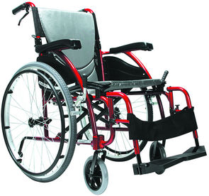 Ergo 115 Self Propelling Wheelchair: Red WCHS655