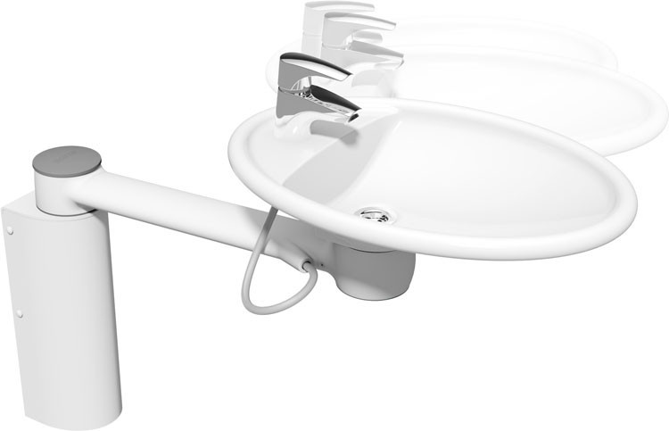 Swing Washbasin From Ropox Bathroom Aqualine Range From